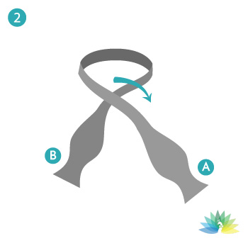 Ruth Nathan's - How to tie a tie - step 2