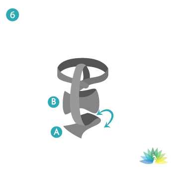 Ruth Nathan's - How to tie a tie - step 6