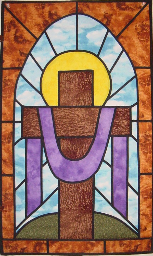 Stained Glass Cross Wall Hanging Quilt Pattern