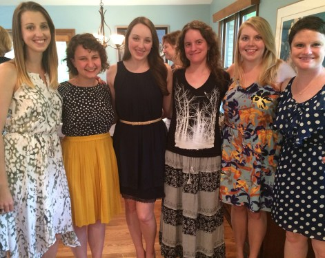 Childhood and college friends at the Dayton shower.