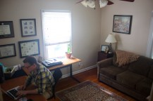 Our second bedroom is a dedicated office since George will be working from home