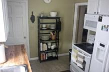Had to get a little crafty with kitchen storage