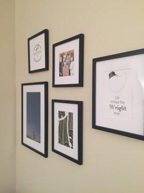 Dayton-themed prints & family photos make it feel more like home.