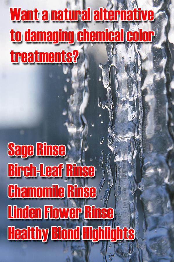 Alternative Natural Hair Rinses