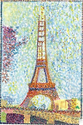 La Tour Eiffel (seurat) : eiffel, (seurat), Influence, Futurism, Ruth's, Design