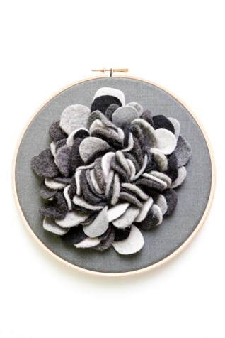 Black / grey coral hoop