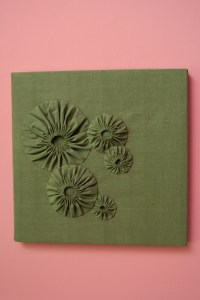 Organic cotton puffs panel