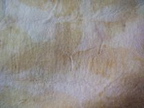 Wool felt with eucalyptus and rose staining