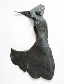 "112 DANCING IN BLACK -Bronze 2007 - Wall hanging, patinated black - 21"" x 14"" x 4"""
