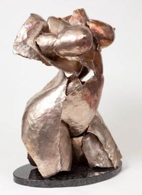 "171 RESURGE (view 1) - Bronze, cast and assembled 2009 - 31"" x 21"" x 20"""