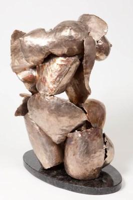 "173 SURGE (view 1) - Bronze, cast and assembled 2009 - 28"" x 21"" x 14"""