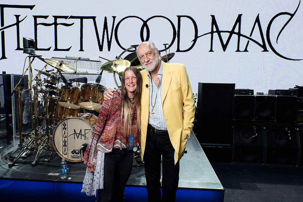 Ruth Tolkien with Mick Fleetwood, drummer with Fleetwood Mac