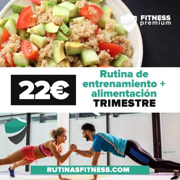 Rutina de entrenamiento + alimentación plan trimestral