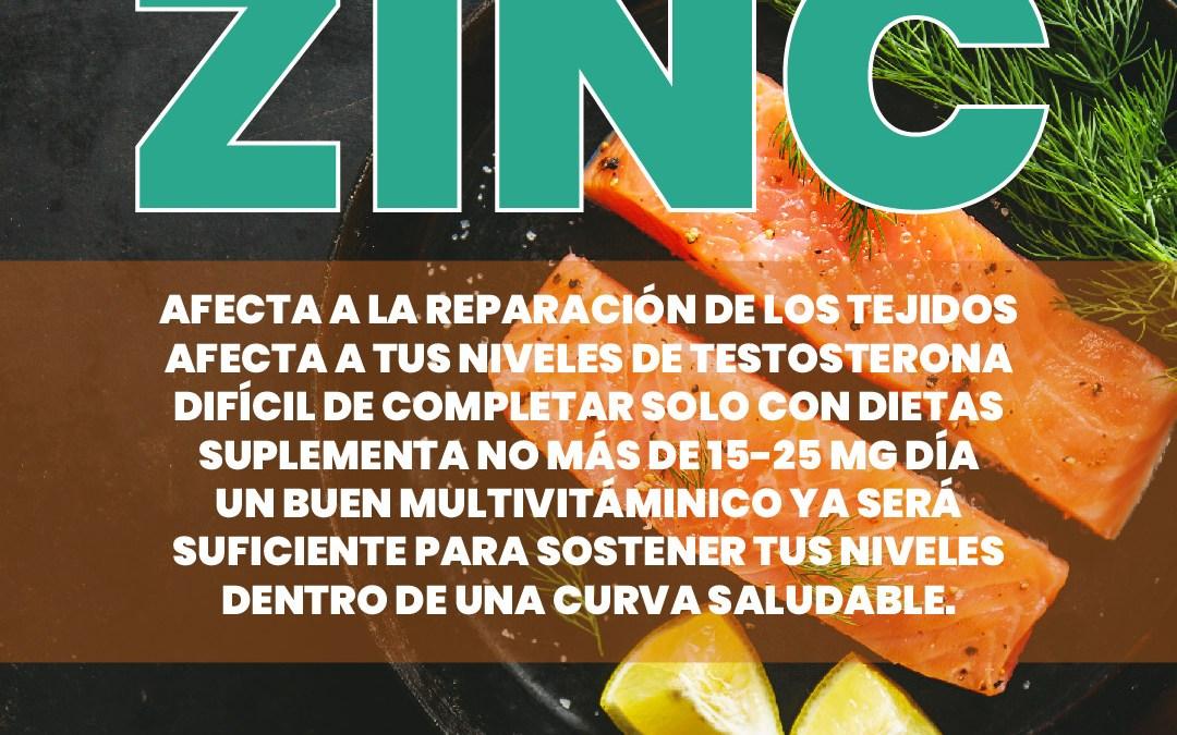 Zinc y fitness. La importancia de los micronutrientes.