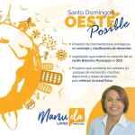 Arriba! Santo Domingo Oeste! Manuela López Diputada!