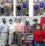 Dirigentes de La Fuerza del Pueblo (FP) manifiestan apoyo al diputado de Miguel Espinal