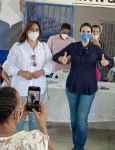 Amerfi Cáceres realiza recorrido junto a Raquel Arbaje en Santo Domingo Norte