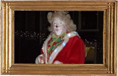 Madam Moisa in kerstsfeer Ruut van Hooft Straat- +theaterproducties