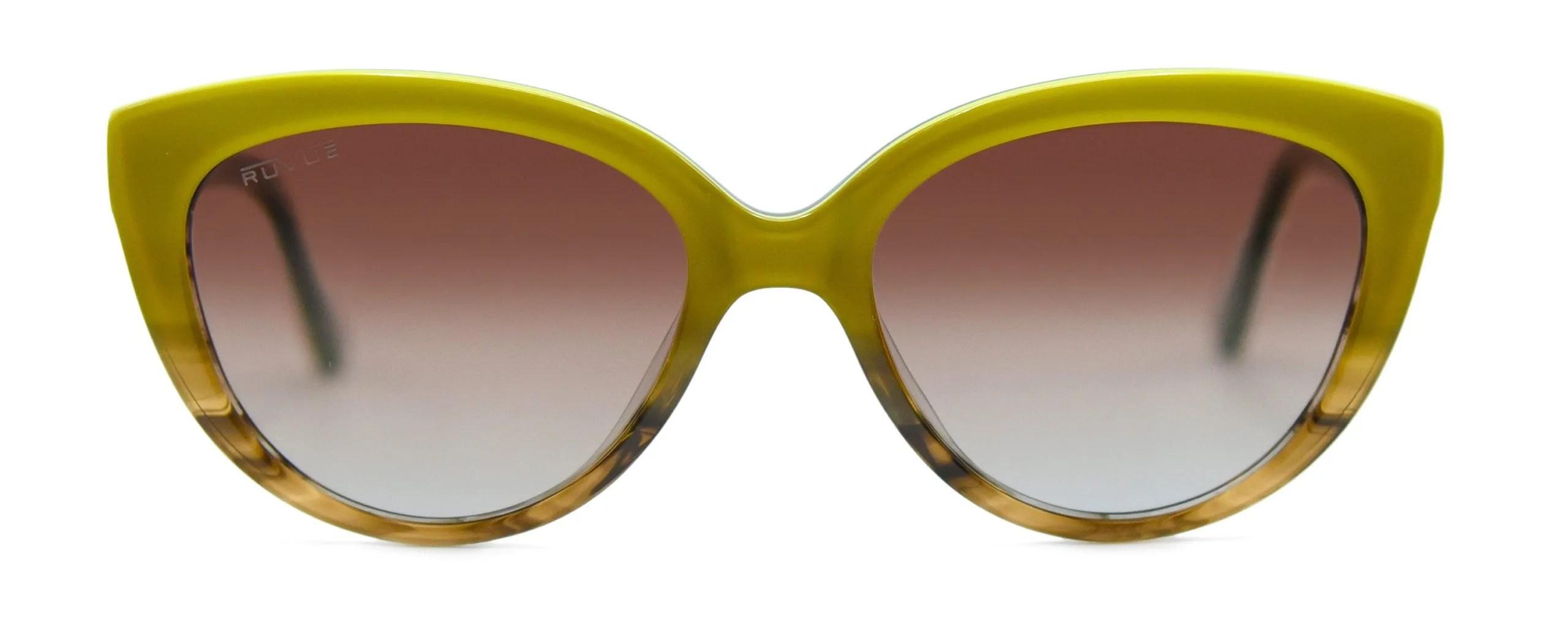 Magdalene - Honey Caramel Green Brown Polarized Lenses - Front