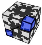 Как собирать кубик на шестернях (Gear Cube)