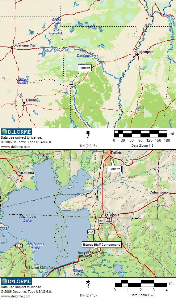 Millwood State Park Camping Map