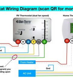 rv thermostat the big thermostat info page 100 free note if this diagram is accurate the white wire to the thermostat is [ 1920 x 1080 Pixel ]