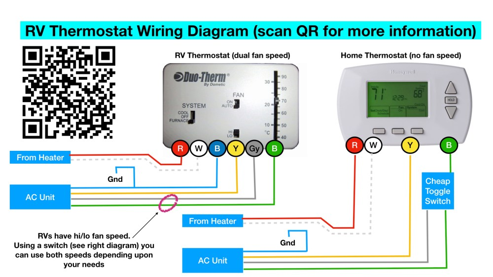 medium resolution of rv thermostat the big thermostat info page 100 free note if this diagram is accurate the white wire to the thermostat is