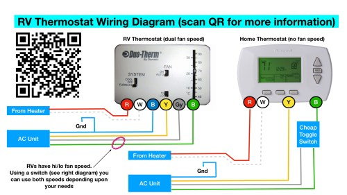 small resolution of rv thermostat the big thermostat info page 100 free note if this diagram is accurate the white wire to the thermostat is