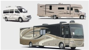 Motorized RV Types - Class A Class B Class C
