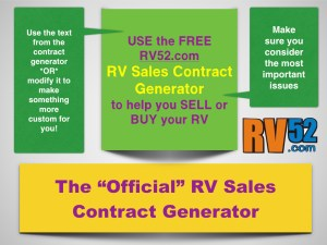 RV Sales Contract Generator