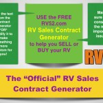 RV52 strikes again with an RV Sales Contract Generator – for FREE!