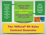 free rv sales contract generator