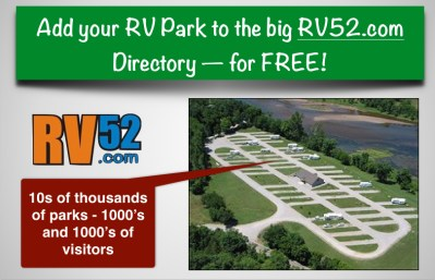 free rv park listing in the rv52 camping directory