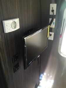 Airstream International TV & Thermostat Closeup