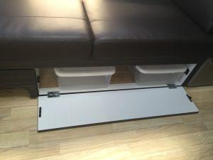 Airstream International Under Couch Storage
