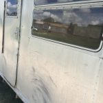 1952 Royal Spartanette Before ANY Restoration Work - passenger side windows and front door