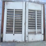 1952 Royal Spartanette Before ANY Restoration Work - Exterior door showing louver