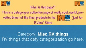 RV Miscellaneous Products