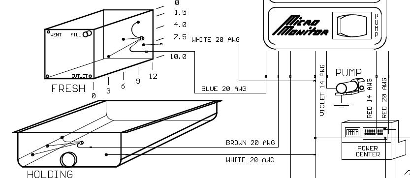 rv water tank wiring diagram transistor power amplifier circuit sensor auto electrical basics black or sewer system information
