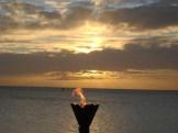 Tiki Lights at Sunset