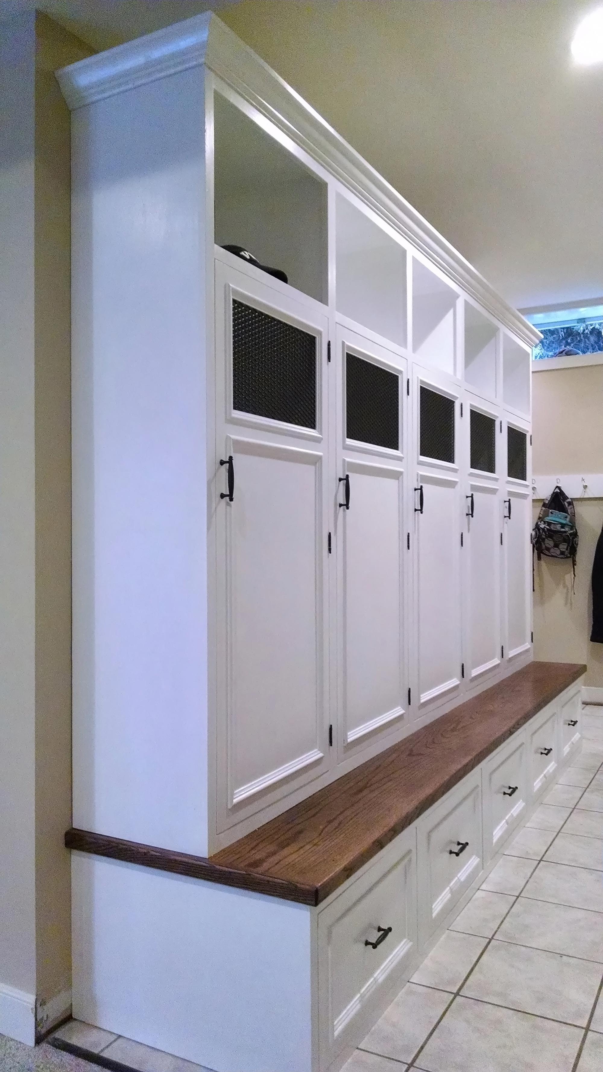 Mud Room Lockers  Reeds Landing  RVA Remodeling LLC