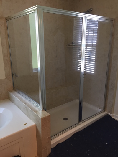 Corner Shower Door Replacement / Richmond VA - RVA Frameless Shower ...