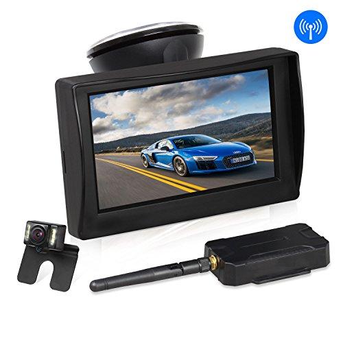 "Wireless Backup Camera and 5/"" Monitor Kit for Car//Vehicle//Truck Waterproof Night"