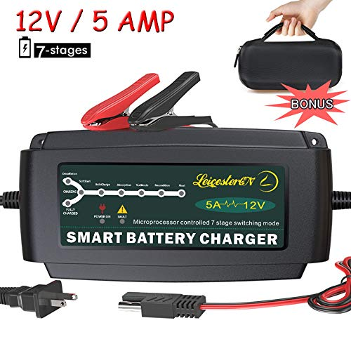 AC 120V 2 Amp DC 12 Lithium Ion Battery Charger for Motorcycle Touring Bike