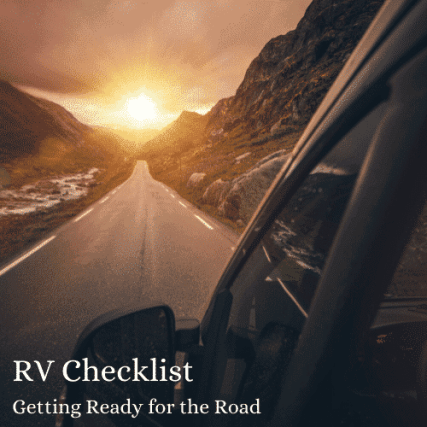 RV checklist getting ready for travel