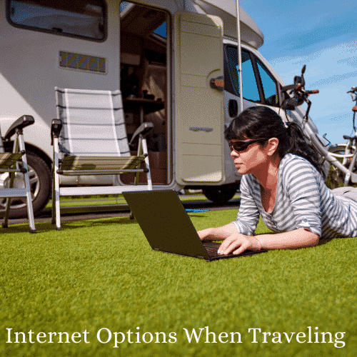 Internet options for getting wifi when camping traveling and working in an rv