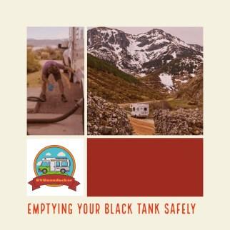 RV black tank emptying safely