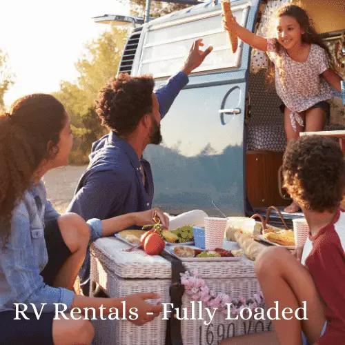 rv rental glamper camper vans