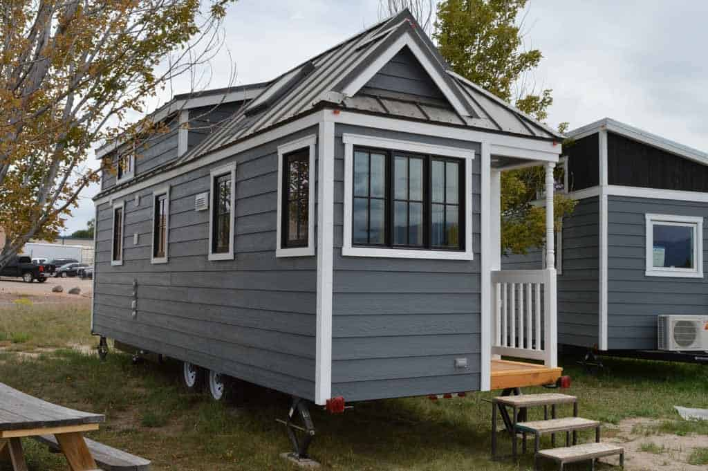exterior view of a tiny house