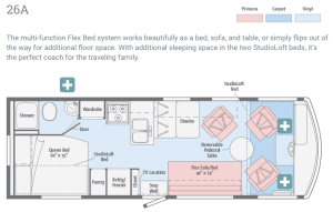 Winnebago Brave floorplan 3